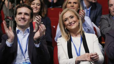 Pablo Casado y Cristina Cifuentes, durante un acto.