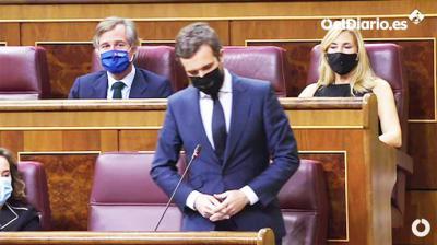 Pablo Casado en la sesión de control al gobierno (captura de pantalla)