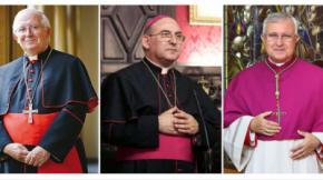 El arzobispo Antonio Cañizares, el obispo de Orihuela-Alicante, Jesús Murgui, y el obispo de Segorbe-Castellón, Casimiro López Llorente.