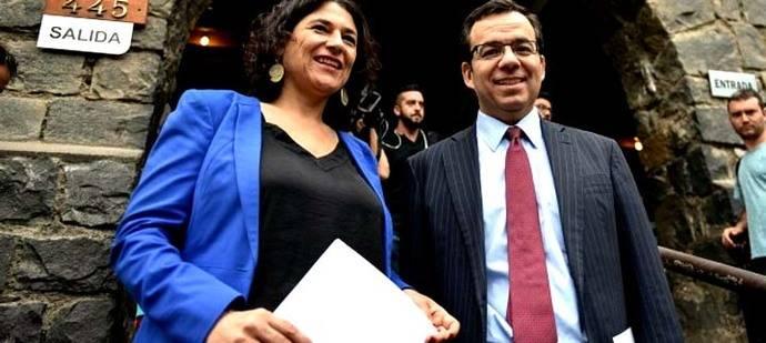 El Ministro de Economía, Fomento y Turismo, Luis Felipe Céspedes junto a la subsecretaria de Turismo, Javiera Montes