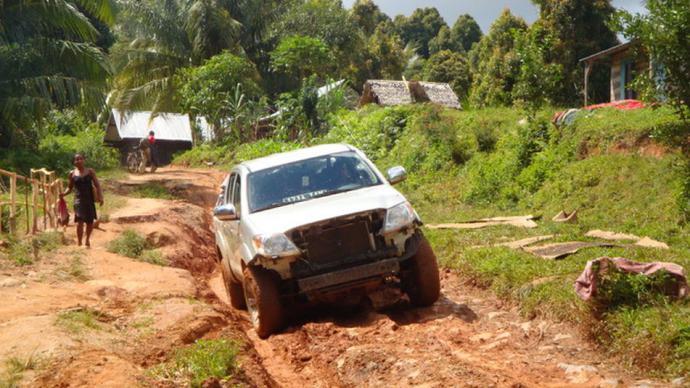 Las casi intransitables carreteras de Madagascar