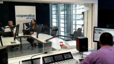 Estudios de Radio Cooperativa en Santiago de Chile.Radio Cooperativa