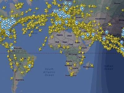 ¿Cuantos aviones caben en el aire?