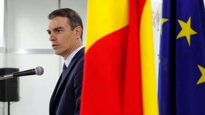 Pedro Sánchez en una comparecencia en el G20