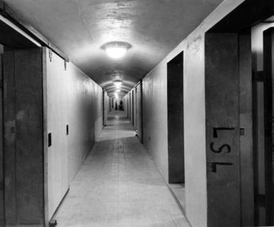 Uno de los tantos pasillos del búnker