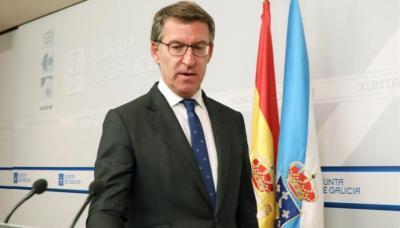 El presidente de la Xunta de Galicia, Alberto Núñez Feijoo