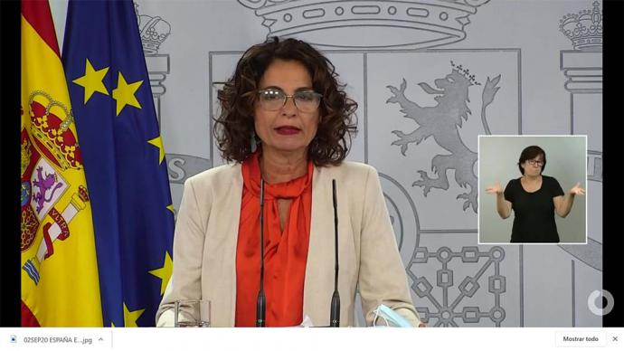 """María Jesús Montero, ha calificado de """"decepcionante"""" la reunión"""