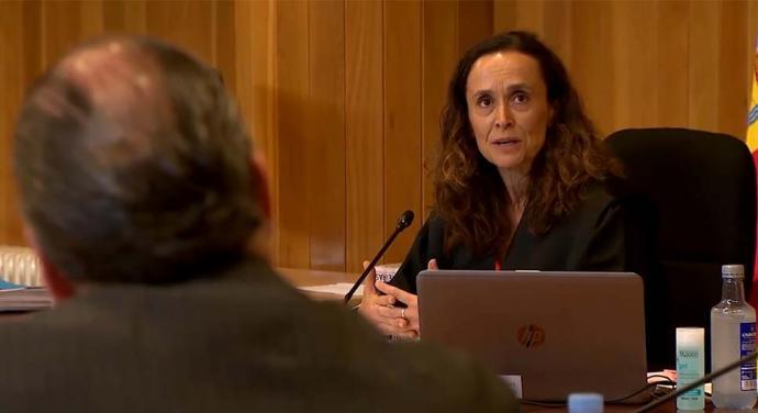 La magistrada Marta Canales acaba de condenar a los Franco a devolver la propiedad a su legítimo propietario: el Estado. (captura de pantalla)