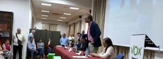 Ortega Smith durante su intervención