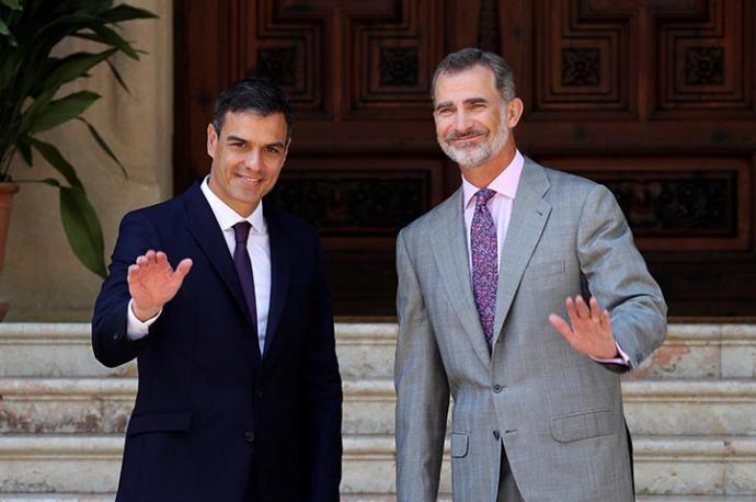 El despacho del Rey con Pedro Sánchez en Marivent tendrá lugar el 7 de agosto