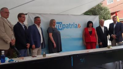 Exdirigentes de Vox, en la presentación del nuevo partido, Túpatria