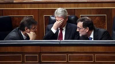 Mariano Rajoy junto al ministro de Justicia, Rafael Catalá