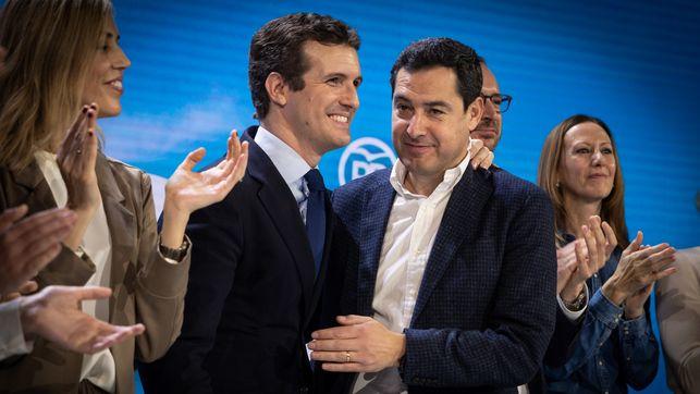 Casado y Moreno, durante la Convención Nacional del PP. FLICKR PP