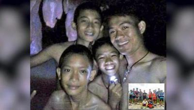 Thailandia: Hallan vivos a 12 niños futbolistas atrapados 9 días en una cueva