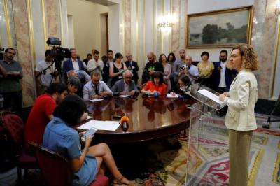 Batet, presentando a los medios las fechas del debate de investidura.