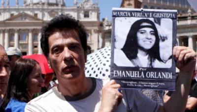 Pietro Orlandi, hermano de la joven desaparecida hace 29 años Emanuela Orlandi, durante un acto en la Plaza de San Pedro del Vaticano.