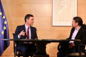Pedro Sánchez y Pablo Iglesias, en una imagen de archivo.INMA MESA (PSOE)