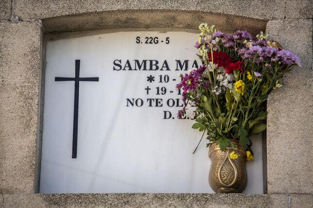 Tumba de Samba Martine, en el Cementerio Sur de Madrid OLMO CALVO
