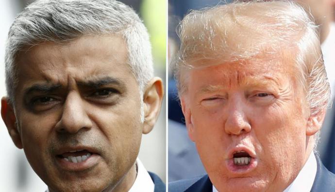 El alcalde de Londres Sadiq Khan dice que Donald Trump es una amenaza global.