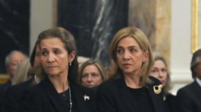 Las infantas Cristina y Elena de Borbón en una imagen de archivo.G3online