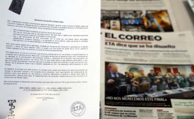 """¿Qué dice la """"declaración final"""" de la banda separatista ETA?"""