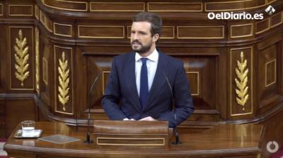 Pablo Casado, presidente del PP (captura de pantalla)