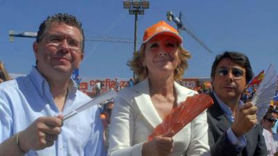 De (i) a (d), Granados, Aguirre y González en una imagen de archivo