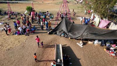 La caravana de migrantes que irrita a Trump se acerca a la frontera