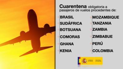 España prorroga la cuarentena obligatoria desde Brasil, Perú y Colombia
