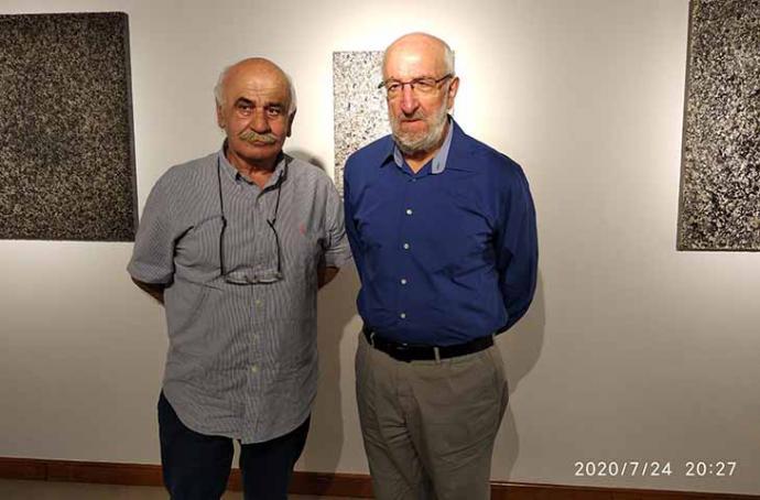 Los pintores Faustino Cuevas y José Manuel Puente inauguran Aselart en la localidad de Mazcuerras