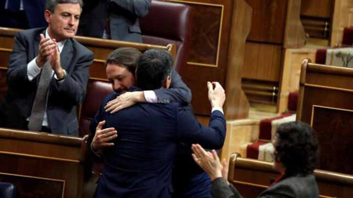 Iglesias anuncia que la tarea del próximo Gobierno será 'reparar las traiciones a España' del PP