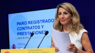 La vicepresidenta tercera y ministra de Trabajo, Yolanda Díaz.EFE/Fernando Alvarado