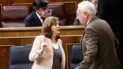 García Margallo y Sáenz de Santa María en una imagen de archivo