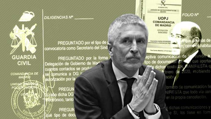 El ministro del Interior, Fernando Grande-Marlaska, en el ojo del huracán tras cesar al coronel Pérez de los CobosDAVID VELASCO