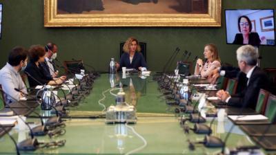 La presidenta del Congreso, Meritxell Batet, preside una reunión de la Mesa de la Cámara.Pool - Archivo