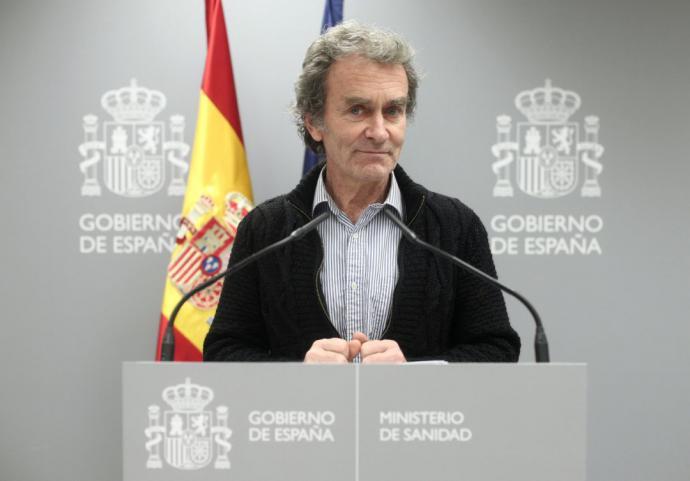 """Fernando Simón ha valorado los datos en la rueda de prensa diaria y ha señalado que son cifras """"realmente buenas"""""""
