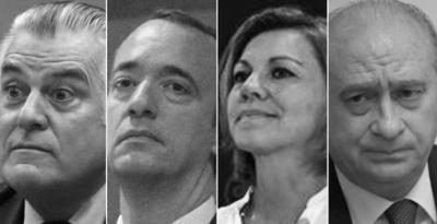 """De (i) a (d) Barcenas. Martínez, Cospedal y Fdez-Díaz, los """"actores"""" del caso """"Kitchen"""""""