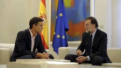 Pedro Sánchez y Mariano Rajoy, durante su encuentro tras el 1-O.