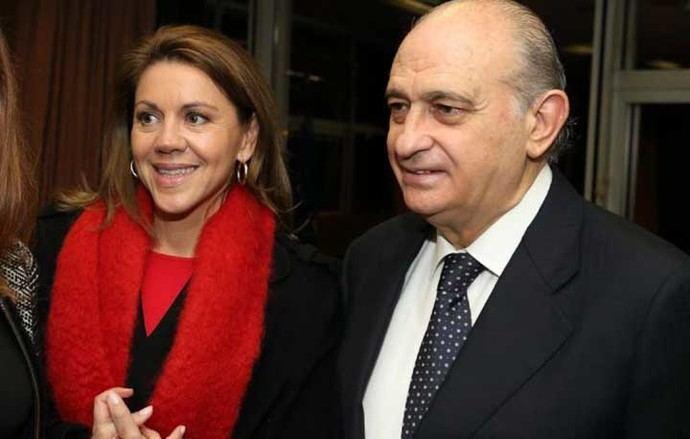 Jorge Fernández Díaz y María Dolores de Cospedal en una imagen de archivo
