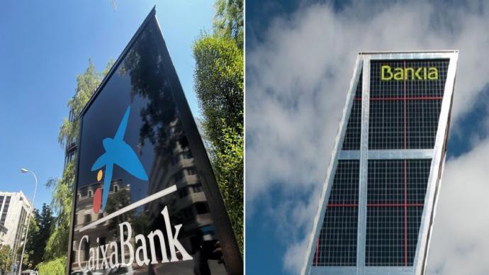 Bankia y CaixaBank negocian una fusión