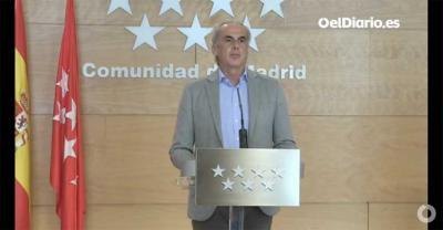 El consejero  de Sanidad de la Comunidad de Madrid Enrique Ruiz Escudero (Captura de pantalla)