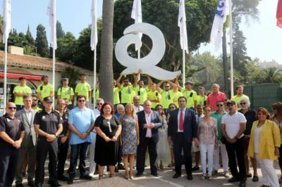 Seis playas de Marbella logran la Bandera Q de Calidad Turística