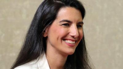 La portavoz de Vox, Rocío Monasterio, en la Asamblea de Madrid.