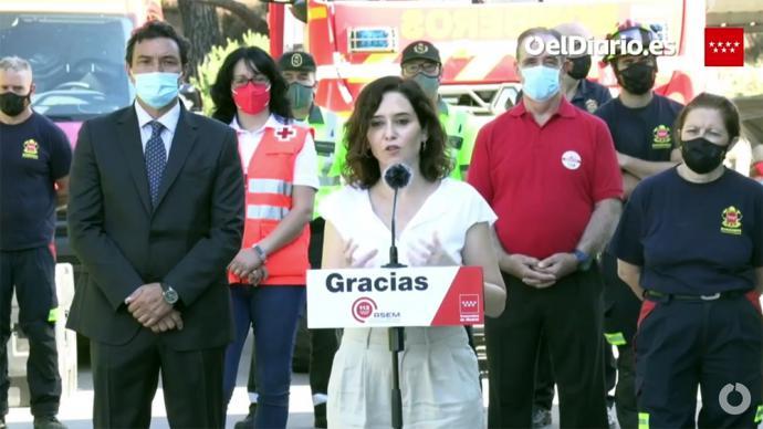 La presidenta de la Comunidad de Madrid, Isabel Díaz Ayuso(captura de pantalla)