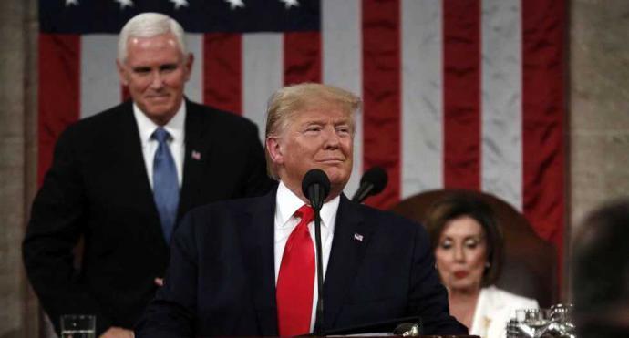 """Trump homenajea a Guaidó ante el Congreso de EE.UU. y promete """"aplastar la tiranía"""" de Maduro"""
