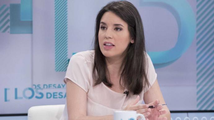 La portavoz parlamentaria de Unidas Podemos, Irene Montero