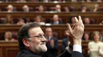 Mariano Rajoy al finalizar su discurso en la segunda votación para la investidura.