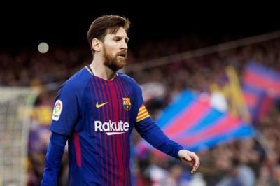 El delantero argentino del FC Barcelona, Lionel Messi