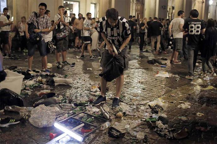 Asciende a 1.527 el número de heridos en la estampida de Turín