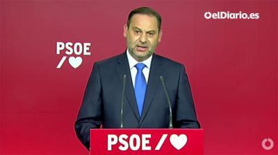 """Ábalos ha hablado, además, en pasado del candidato socialista, de quien ha dicho que """"ha cumplido su función""""  (Captura de Pantalla)"""